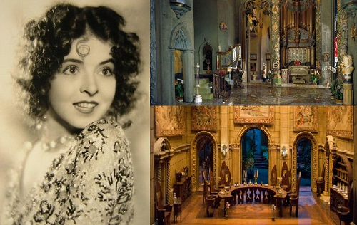 Colleen Moore became famous for her luxurious jewelry dollhouse Fairy Castle