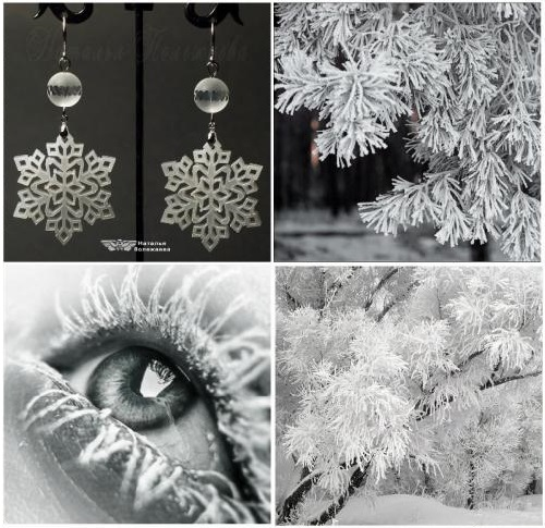 Earrings 'Hoarfrost'