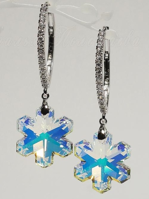 Earrings 'Snowflakes'