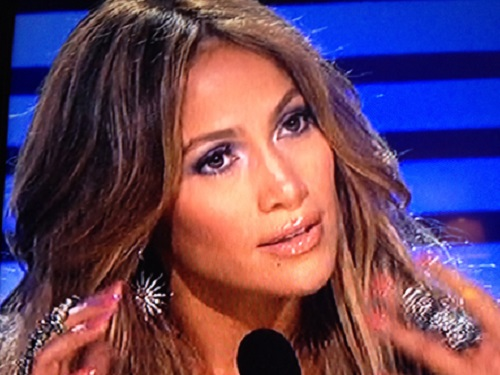 Jennifer Lopez in Bochic on American Idol