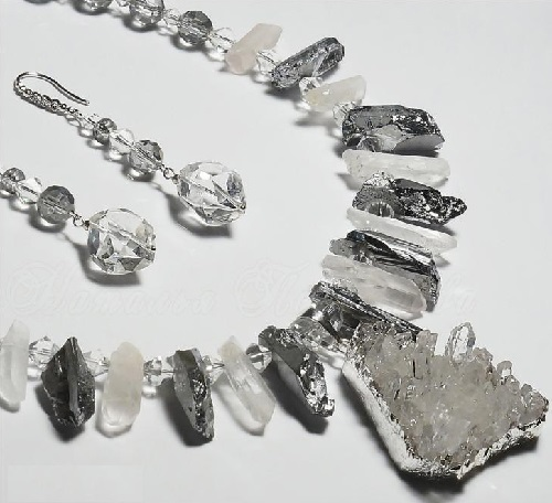 Necklace and earrings Set 'Ice Queen'