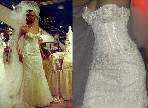 Fifteen Most expensive dresses. Renee Strausse Sparkly Wedding Gown