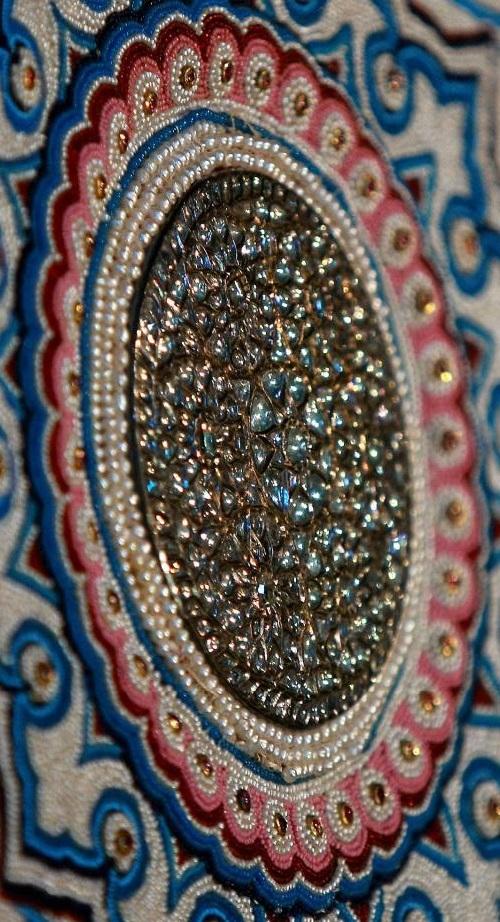 Details of pearl carpet of Baroda, India