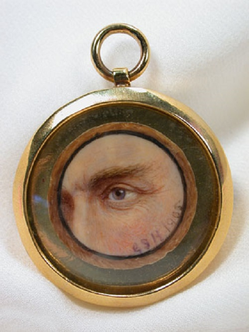 Eye Miniature Portrait. Gerald Sinclair Hayward (1845-1926), a Canadian miniature painter