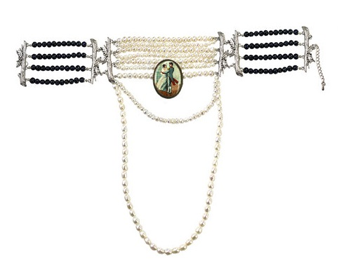 Masterpeace Pierre and Natasha two-tone pearl choker