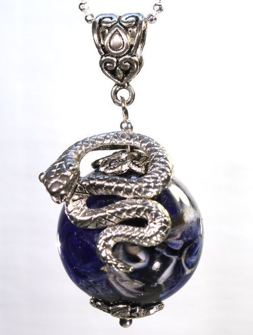 Pendant Mistress of Copper Mountain - snake ball