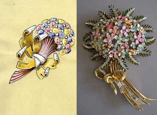 Ralph DeRosa costume jewelry and illustration