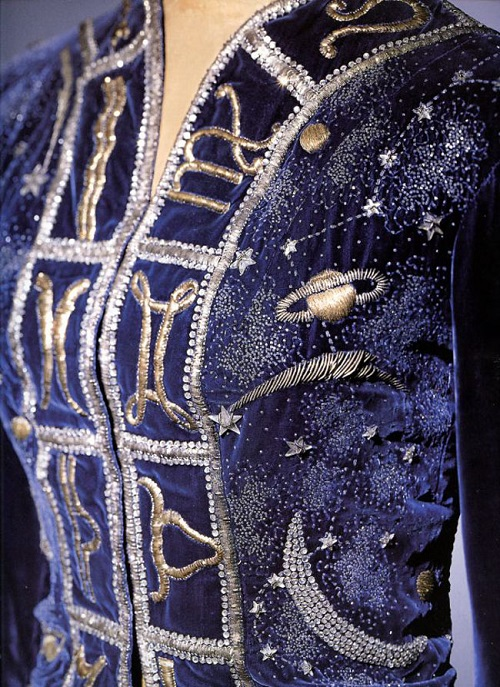 Elsa Schiaparelli twelve commandments. Zodiacal collection. Hand-made embroidery in fashion design by Elsa Schiaparelli