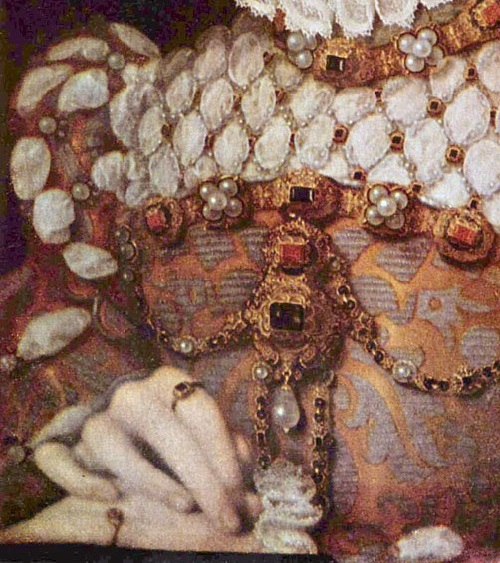Symbolism of wearing rings. 1570 Elisabeth of Austria