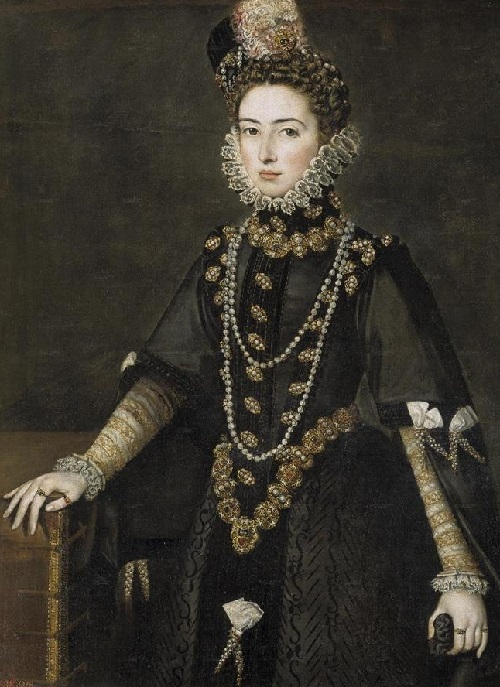 Symbolism of wearing rings. 1585 Infanta Catalina Micaela Alonso Sanchez Coello (Prado)