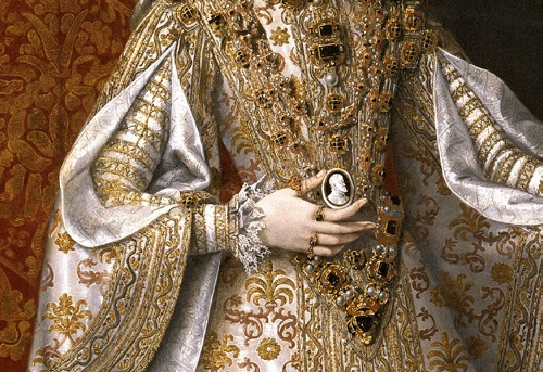 Symbolism of wearing rings. Portrait of the Infanta of Spain and Queen Isabella Clara Eugenia of Austria'