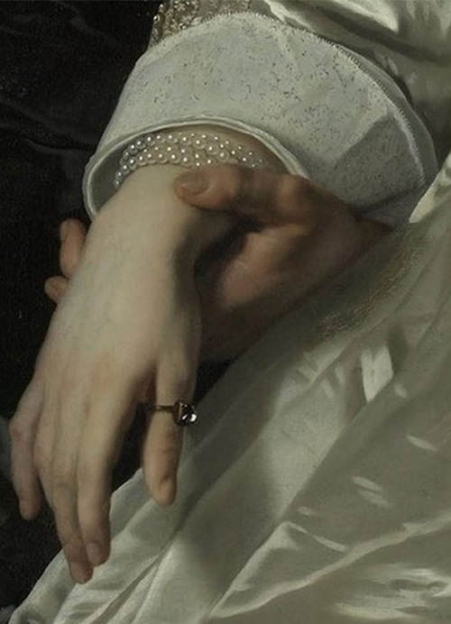 Symbolism of wearing rings. Bartholomeus van der Helst - Abraham del Court and his wife Maria de Kaersgieter, 1654