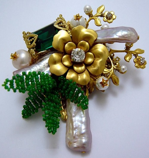 Brooch. Costume Jewelry by Bakhtiyor Baltabayev