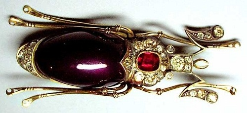 Insect Jewellery Kaleidoscope. Brooch. Gold, silver, diamonds, rubies. Russia, Carl Faberge, the beginning of the 20th century