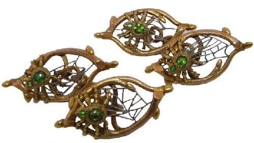 Insect Jewellery Kaleidoscope. Cufflinks. Gold, platinum. Russia, the beginning of the twentieth century