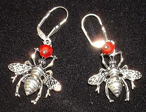 Earrings 'Queen of bees'
