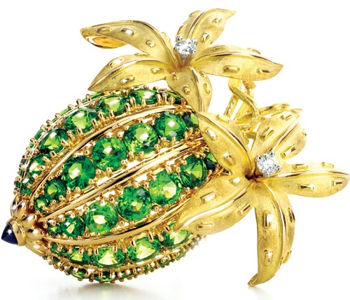 French jewelry designer Jean Schlumberger Brooch for Tiffany & Co