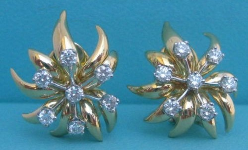French jewelry designer Jean Schlumberger earrings