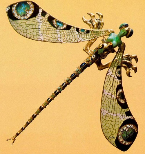 Rene Lalique insect jewelry