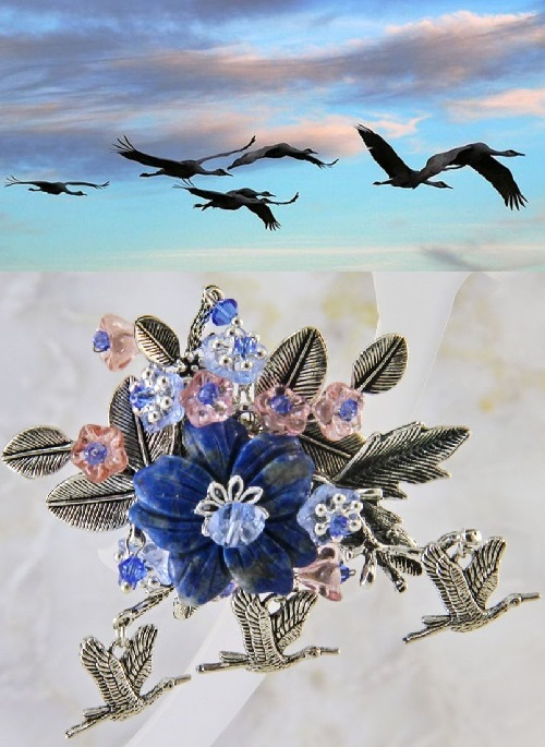 The Cranes Are Flying. Jewelry artist Olga Buryanova