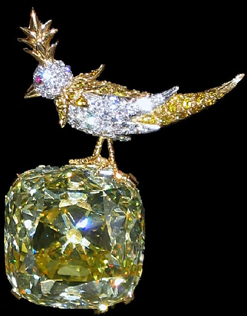 The brooch 'Bird on a Rock'. Tiffany Diamond. image - Wikipedia