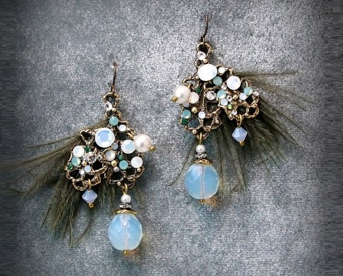 Winter dream and summer night - earrings