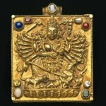Nepalese-Tibetan Jewelry. Gold repousse', lapis lazuli, coral, pearl, opal, emerald, ruby, glass