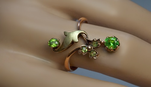 antique russian art nouveau flower ring made in moscow between 1899