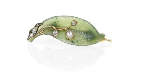 Flower theme in jewelry by Carl Faberge
