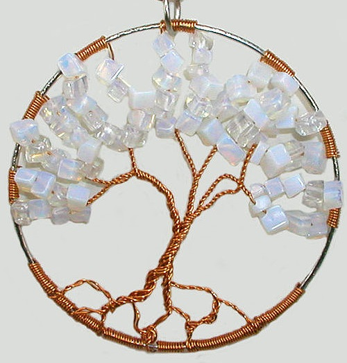 Moonstone Pendant Tree of Happiness