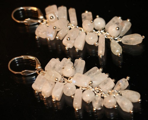 Moonstone earrings by STONESVA