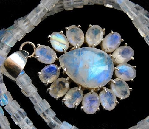 Pavel Nezhadny jewellry. Moonstone necklace