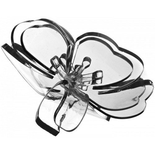 The ring of plastic, decorated with large flower