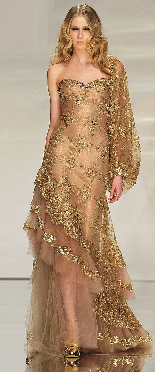 Gold Dresses Kaleidoscope. Abed Mahfouz 2014 gold dress