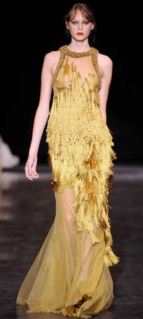 Gold Dresses Kaleidoscope. Basil Soda Haute Couture Autumn 2012