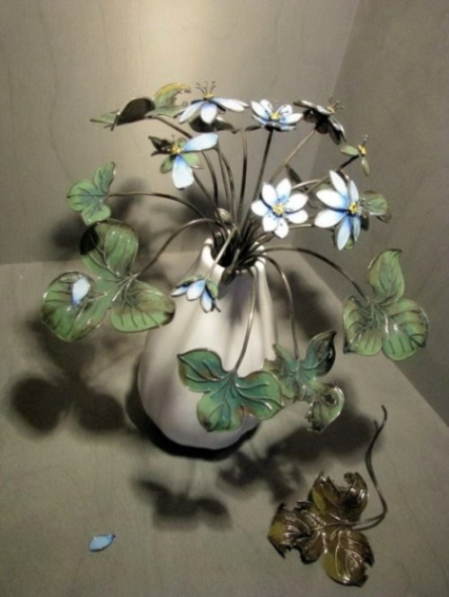 Beautiful enamel flowers by Russian artist – jeweler Nikolay Suslov