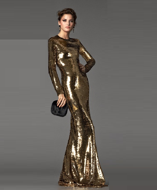 Gold Dresses Kaleidoscope. Dolce & Gabbana gold dress