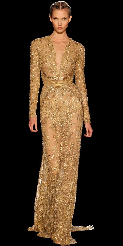 Gold Dresses Kaleidoscope. Elie Saab gold dress