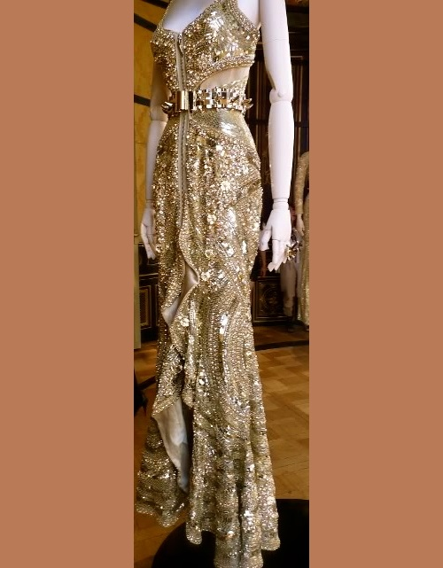 Givenchy Spring 2011 gold dress