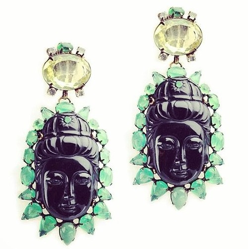 Iradj Moini jewellery earrings with Buddha face