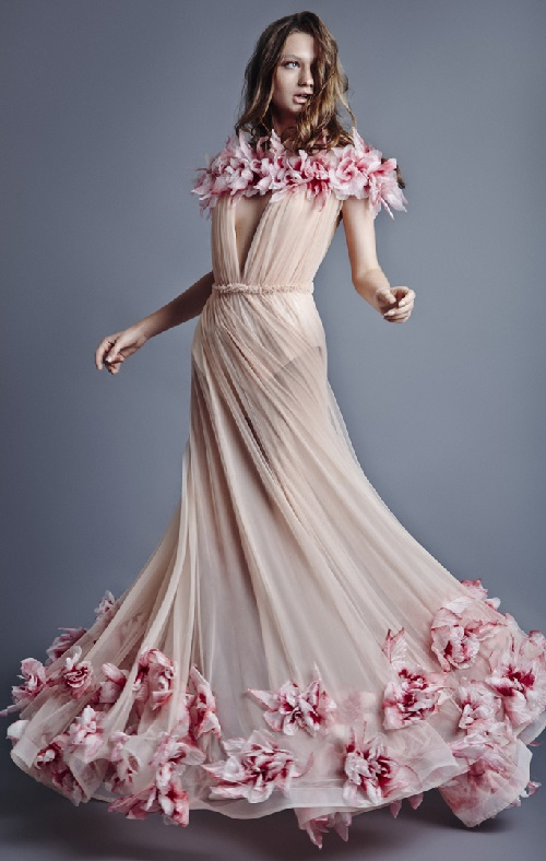 Jean Louis Sabaji collection flower dress