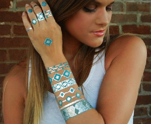 Temporary Metallic Flash Tattoos instead of jewelry