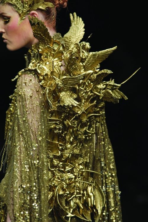Gold Dresses Kaleidoscope. Tex Saverio Indonesian Fashion Designer