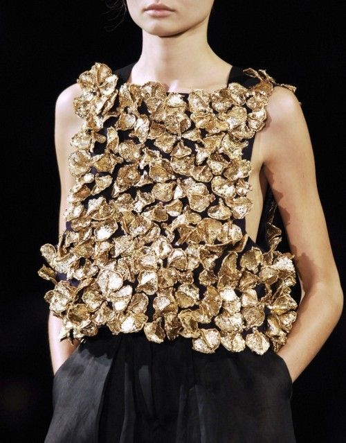 Gold Dresses Kaleidoscope. Yves Saint Laurent
