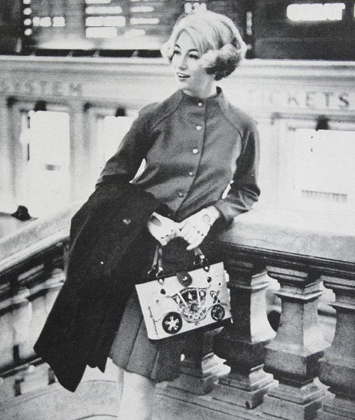 Cynthia, daughter of Enid Collins Handbags, starred in many commercials of a family business