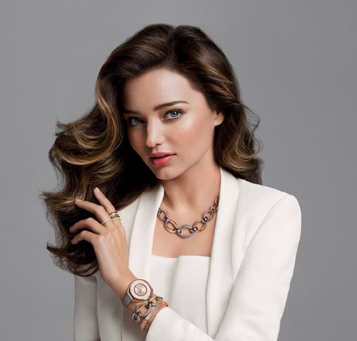 Miranda Kerr, the face of the brand Swarovski