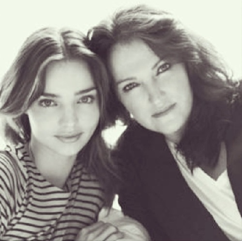 Miranda Kerr with her mum