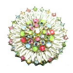 Multicolored brooch