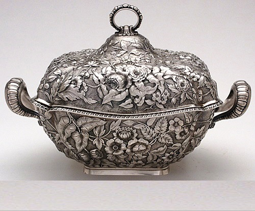 Dominick & Haff Antique Sterling Repoussé Soup Tureen, c. 1884