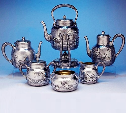 Dominick & Haff Sterling Silver Coffee & Tea Service, 1881
